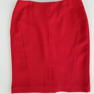 Worthington Red Pencil Skirt